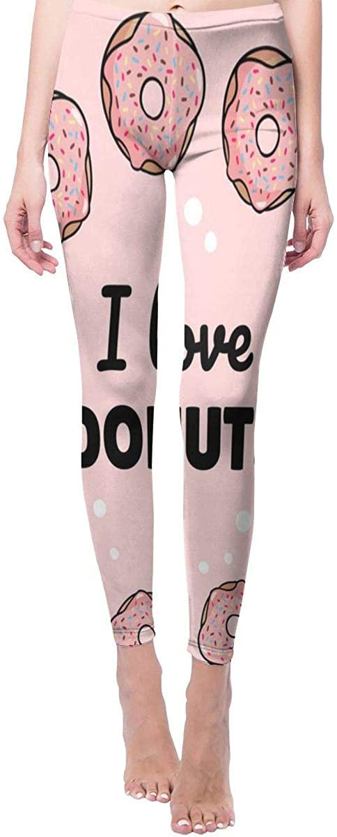Ruin Yoga Pants Love Donuts High Waist Skinny Leggings Sweatpants