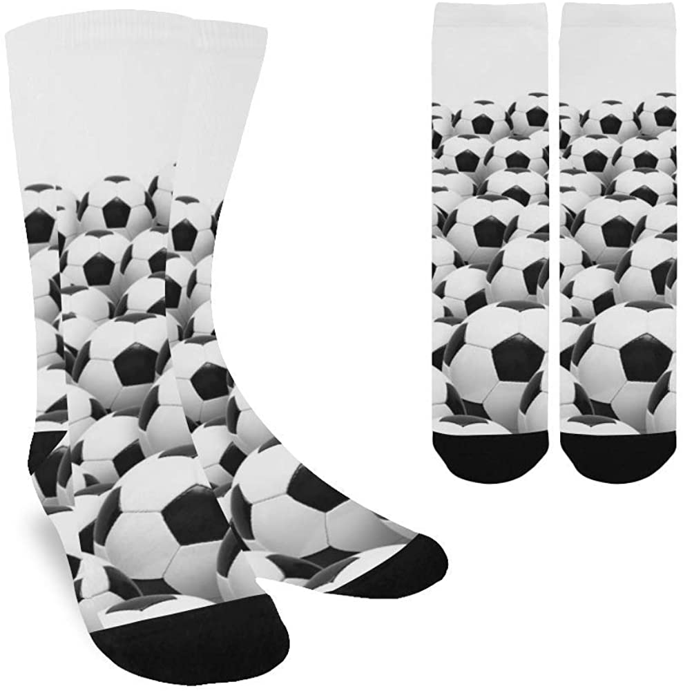 Football Ball Sport Series Women's Custom Socks Colorful Fashion Sport Socks