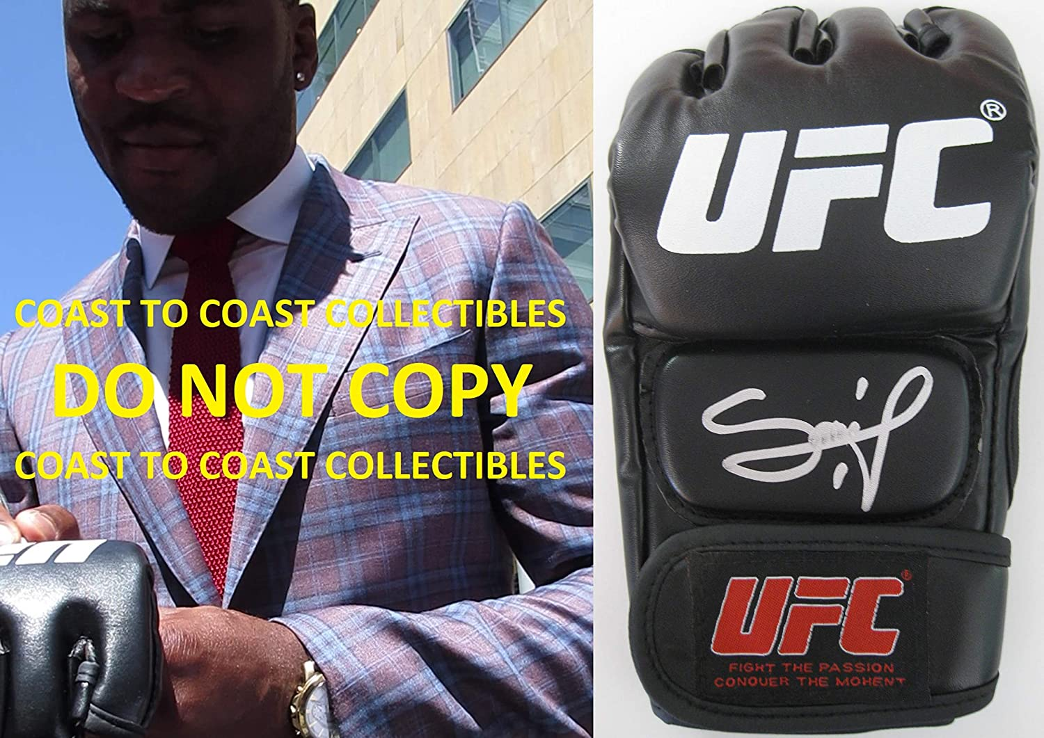 Francis Ngannou, The Predator, mixed martial arts, MMA, signed, autogrpahed, UFC glove, COA with proof.