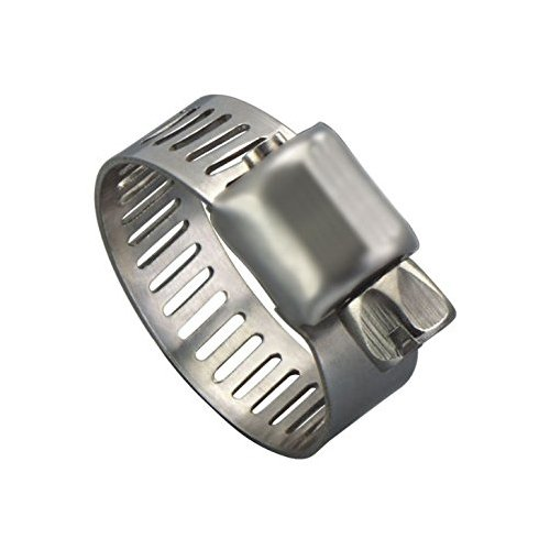 Precision Brand M4P Micro Seal, Miniature Partial Stainless Worm Gear Hose Clamp, 7/32