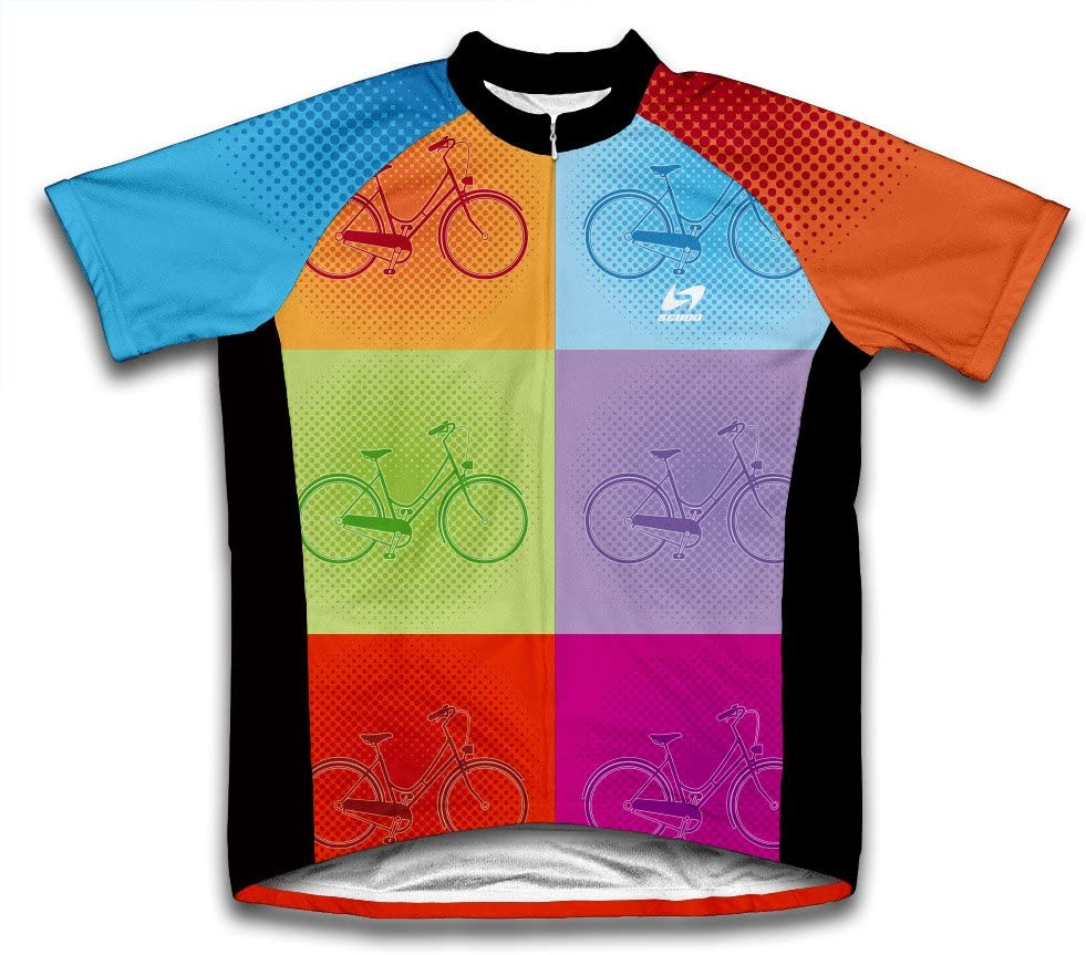 ScudoPro Pop Colors Short Sleeve Cycling Jersey for Youth
