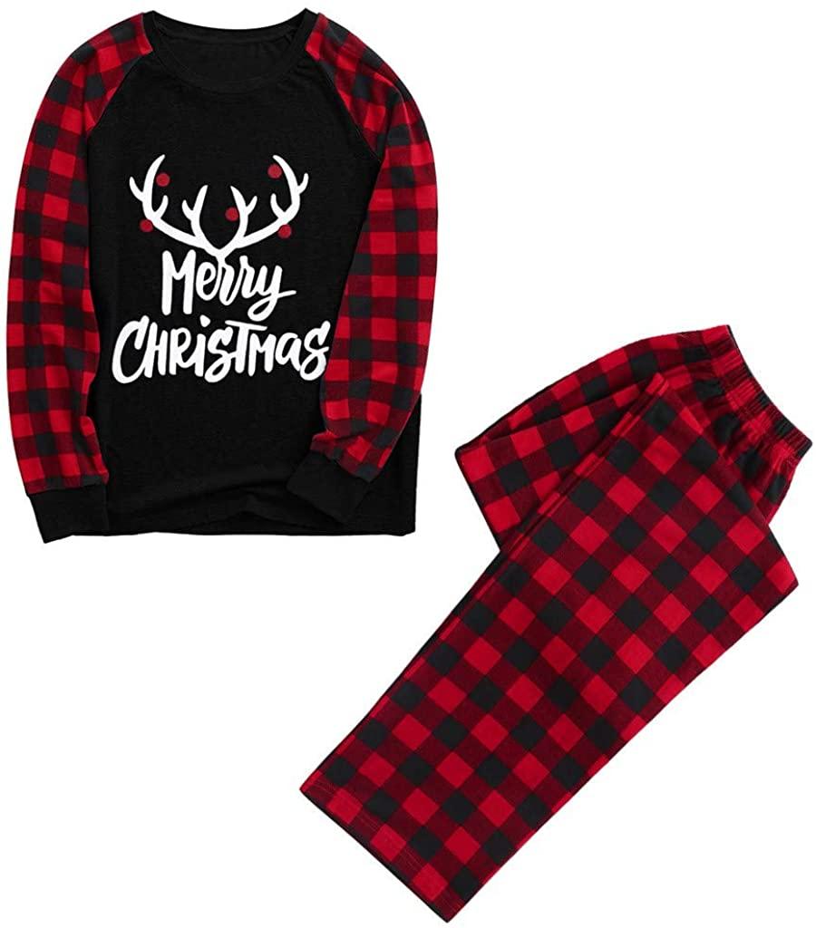 Christmas Man Daddy Print Blouse Tops and Pants Xmas Family Clothes Pajamas