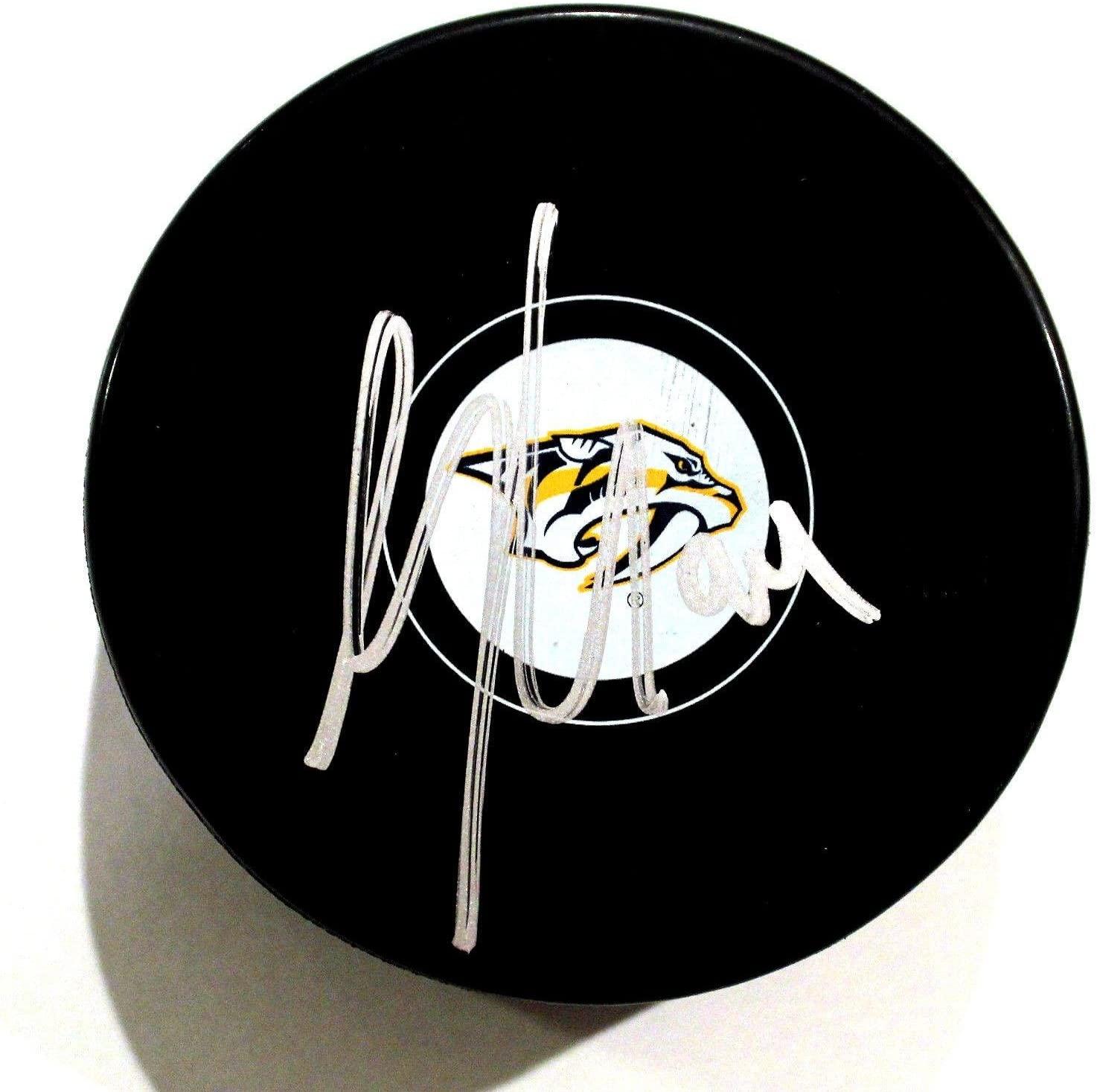 Samuel Girard Signed Hockey Puck - w COA #1 - Autographed NHL Pucks