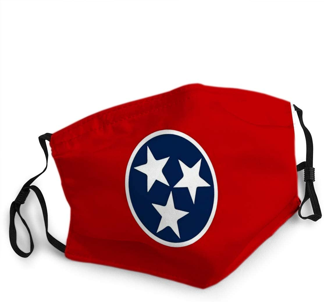 YILINGER Reusable Face Shield Mouth Mask Flag of Tennessee