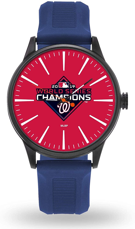 Nationals 2019 World Series Champions Premium Cheer Design Watch Team Color Logo Baseball
