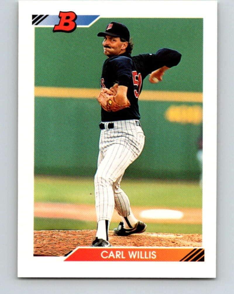 1992 Bowman #466 Carl Willis Mint Baseball MLB Twins