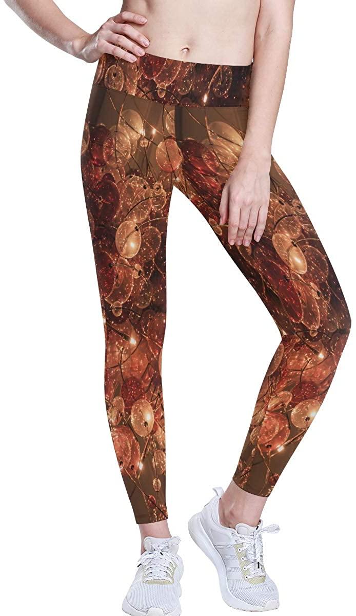 BHRETI Women's Leggings, Stunning Flower Yoga Pants, Yoga Long Trousers Yoga Tights Suitable for Gym Sports Running