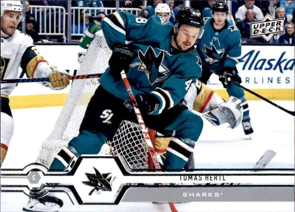2019-20 Upper Deck #163 Tomas Hertl San Jose Sharks Hockey Card
