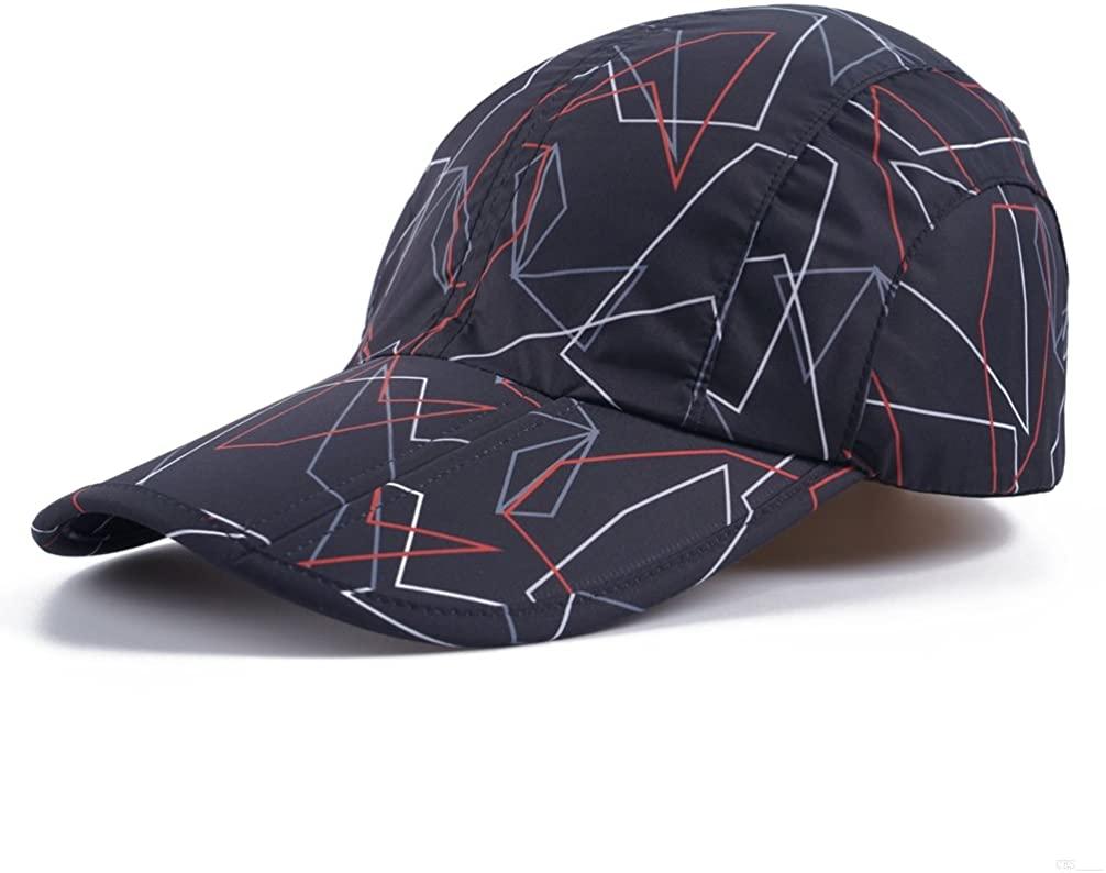 Camo Black Camo Hat,Camouflage Baseball Cap,Breathable Running Quick Dry Folding Brim Hat Under 10 UV Sun Protection Visor Baseball Hats Adult Outdoor Fishing Golf Baseball Cap for Men Women JC75