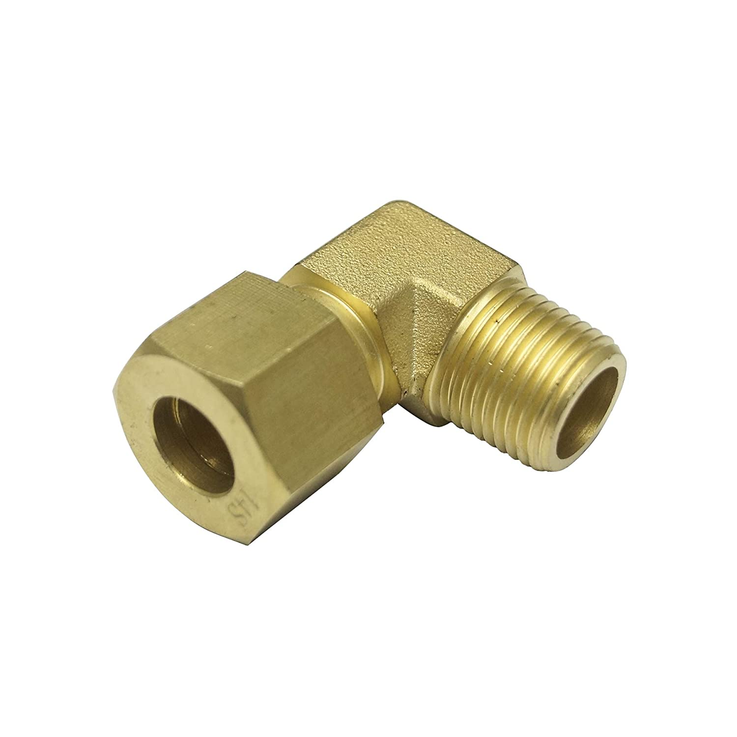 90 Degree Male Elbow, Brass Material, 25S x 1