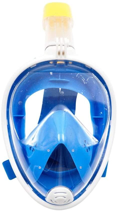GVFGYJ Snorkel Mask Full Face Detachable Scuba Diving Mask Full Dry Anti-Fog Leakproof Belt Adjustable Headband Longer Snorkeling Tube Men and Women Adult Children