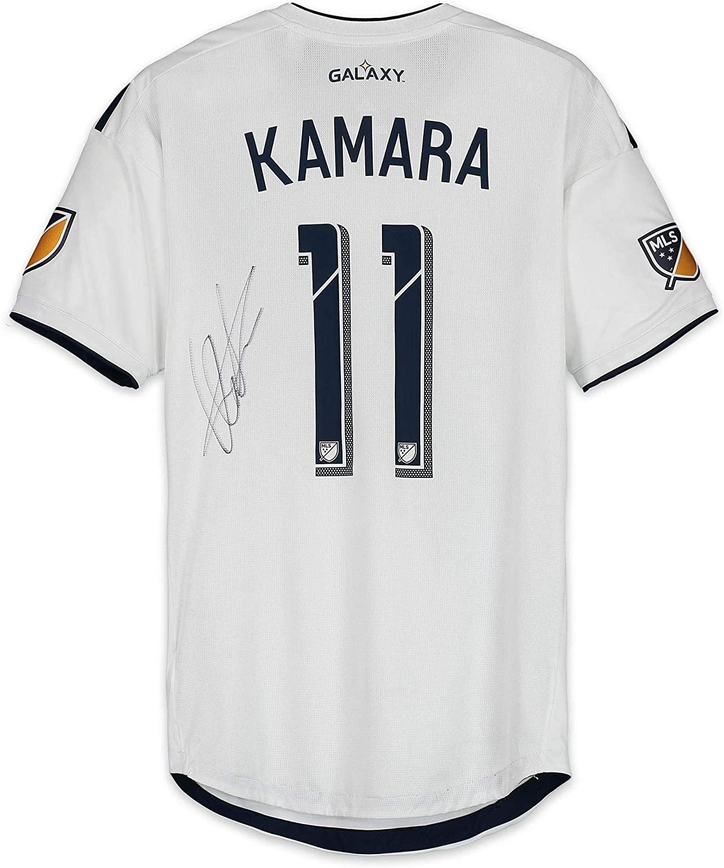 Ola Kamara LA Galaxy Autographed Match-Used White #11 Jersey from the 2018 MLS Season - Fanatics Authentic Certified