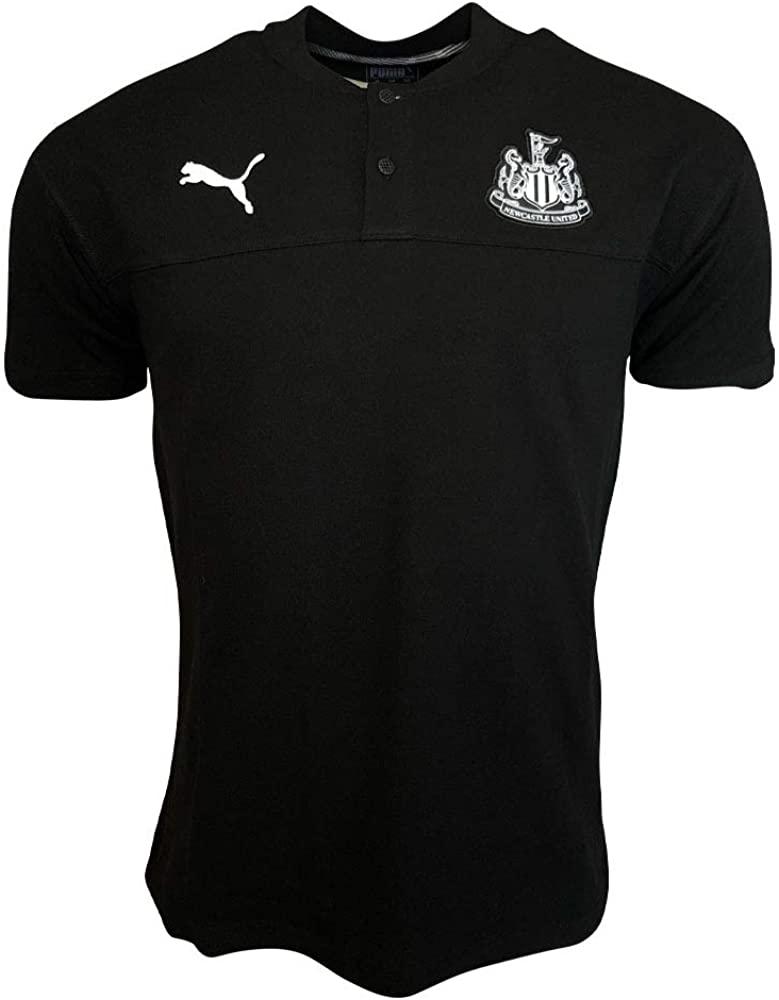 PUMA 2019-2020 Newcastle Casuals Polo Football Soccer T-Shirt Jersey (Black)