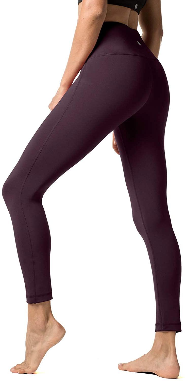 LAPASA Yoga Pants Sports Leggings High Waist Tummy Control Workout Running Tights 25