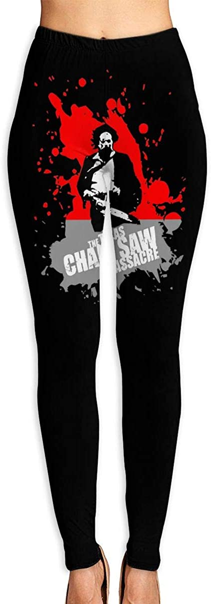 Women's Yoga Pants Texas Chainsaw Massacre High Waist Workout Leggings Running Pants