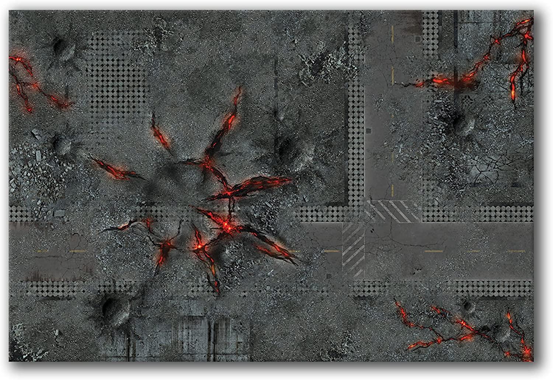 Frontline Gaming - FLG Mat - Urban Chaos 6x4' - Neoprene Wargaming Mat
