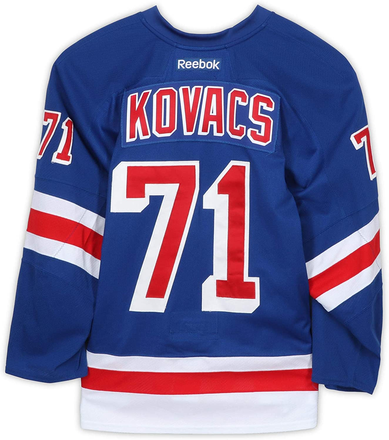 Robin Kovacs New York Rangers Game-Used #71 Blue Jersey from the 2016-17 NHL Preseason - Size 56 - Fanatics Authentic Certified