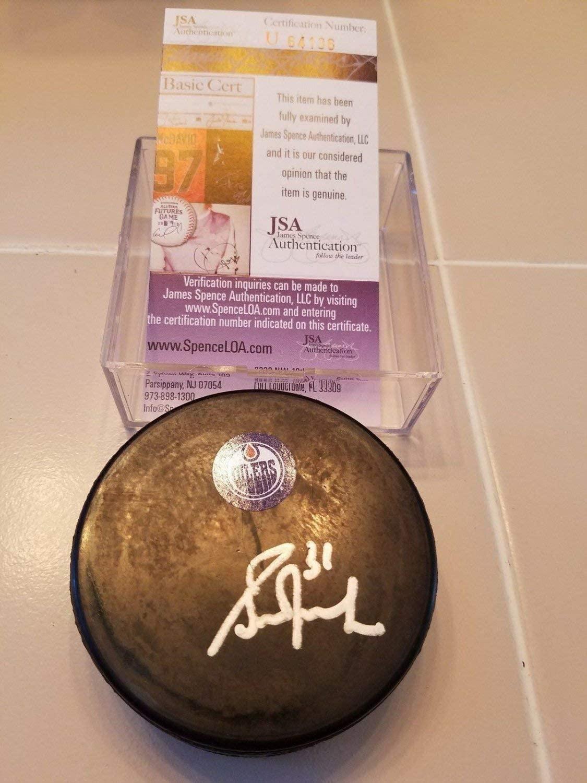 Authentic Autographed Grant Fuhr Oilers Puck JSA COA