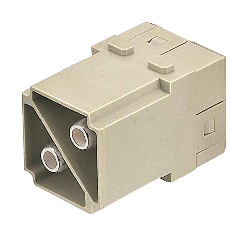 HARTING - 09140022650 - Heavy Duty Connector, Han-Modular Series, Insert, 2 Contacts, Plug, Screw Pin