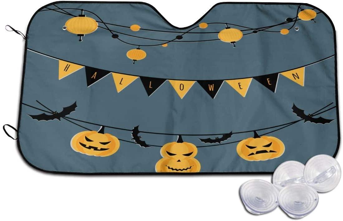Wehoiweh Halloween Windshield Sun Shade for Car Front Sunshade Visor Shield Cover (51.18 X27.56,55.1X29.92)