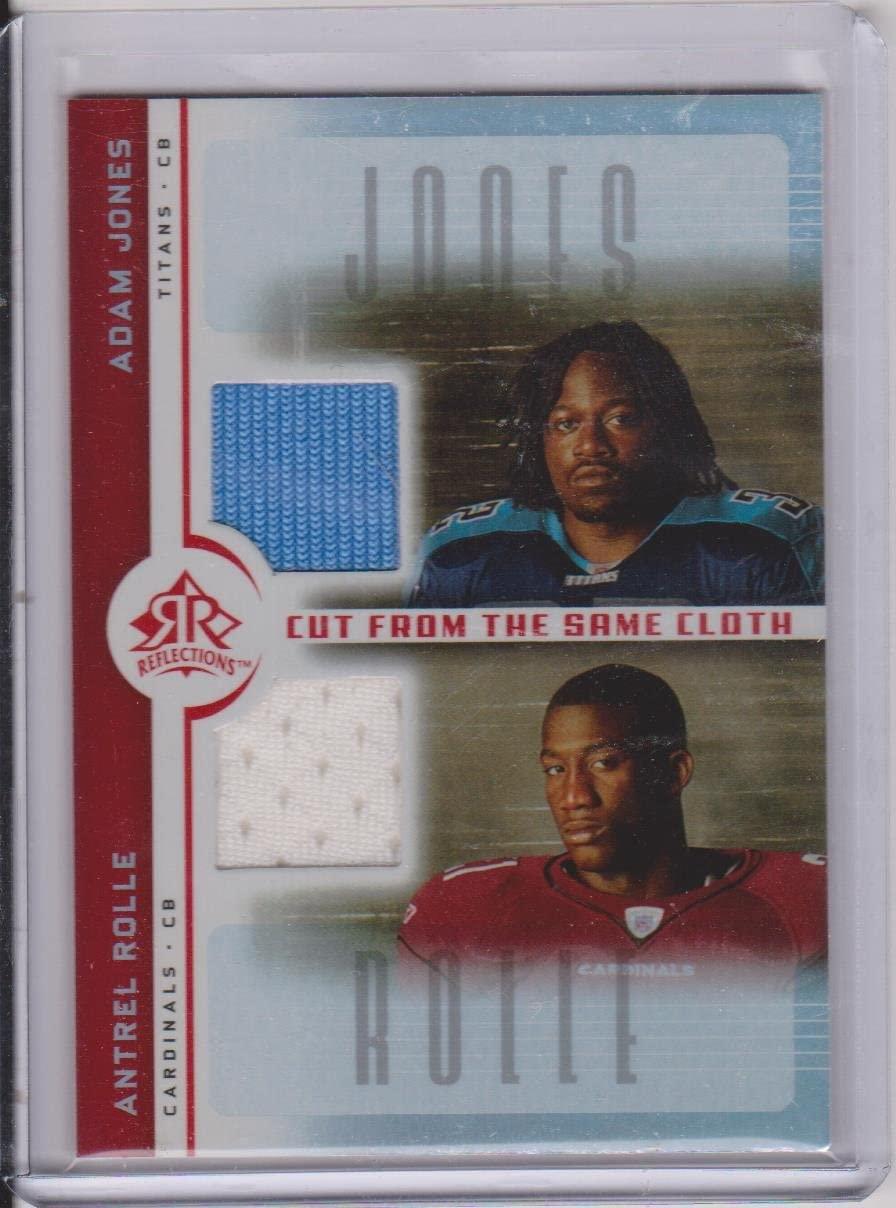 2005 Upper Deck Adam Jones Titans and Antrel Rolle Cardinals Dual Jersey Insert Card