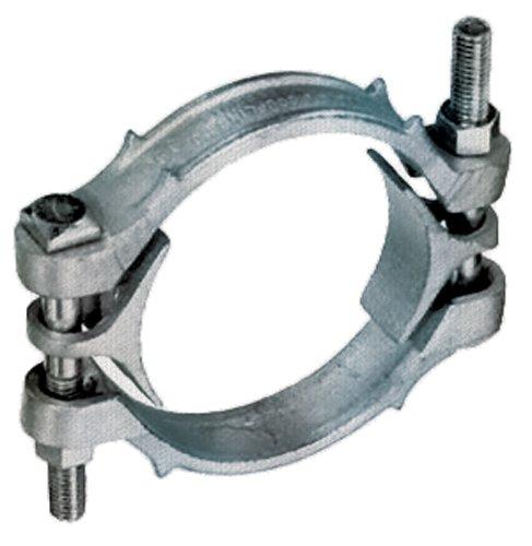 Kuriyama DB1275 Zinc Plated Ductile Iron Double Bolt Hose Clamp, 11-3/16