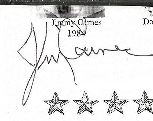 Jimmy Carnes Signed Vintage Magazine Page University of Florida Track B - JSA Certified - Autographed College Magazines