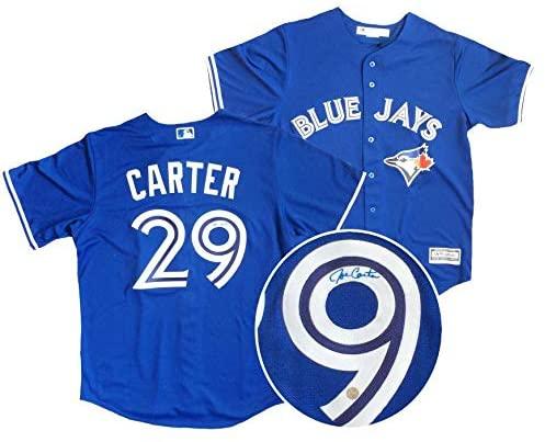 Autographed Joe Carter Jersey - Frameworth Majestic - Autographed MLB Jerseys