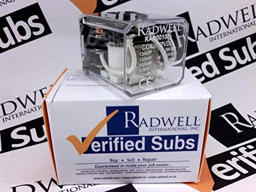 RADWELL VERIFIED SUBSTITUTE W250X10SUB 13A 3PDT Plug in Relay- Replaces MAGNECRAFT PN: W250X10, Relay - 12VDC