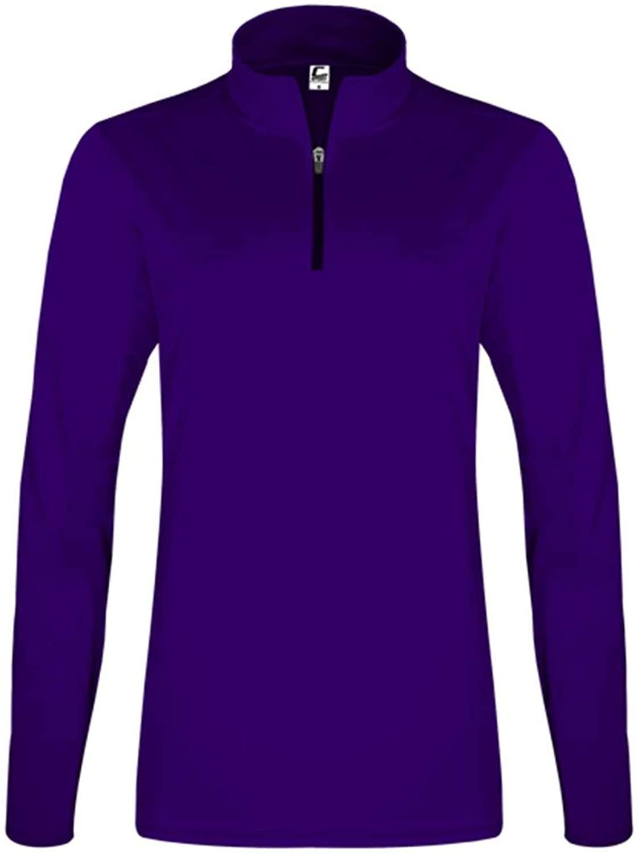 Women's Quarter-Zip Pullover - M/Purple