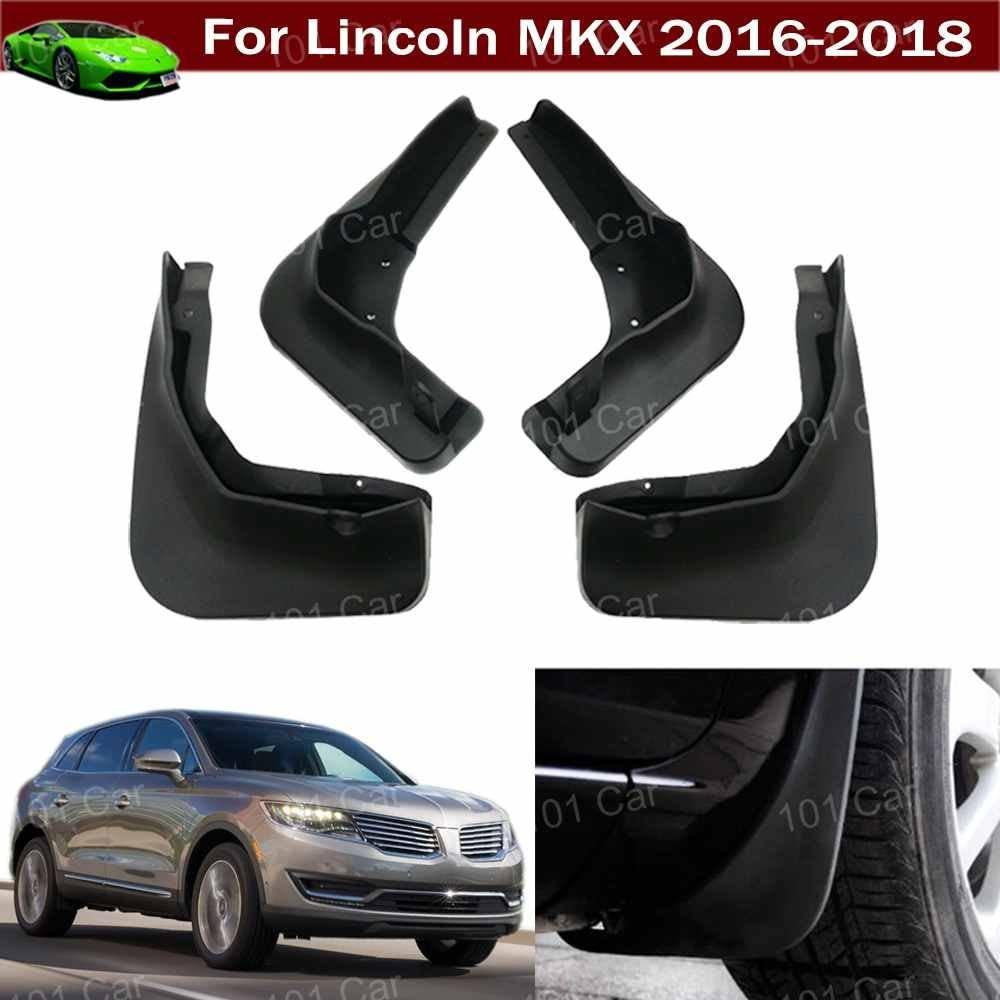 Tiantian New 4pcs Car SUV Mud Flap Splash Guard Mud Guards Fender Mudguard Mudflap for Lincoln MKX 2016 2017 2018 2019 2020
