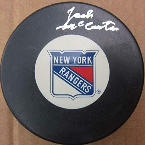 Jack McCartan Autographed Puck - 1960 USA Gold Medal Goalie - PSA/DNA Certified - Autographed NHL Pucks