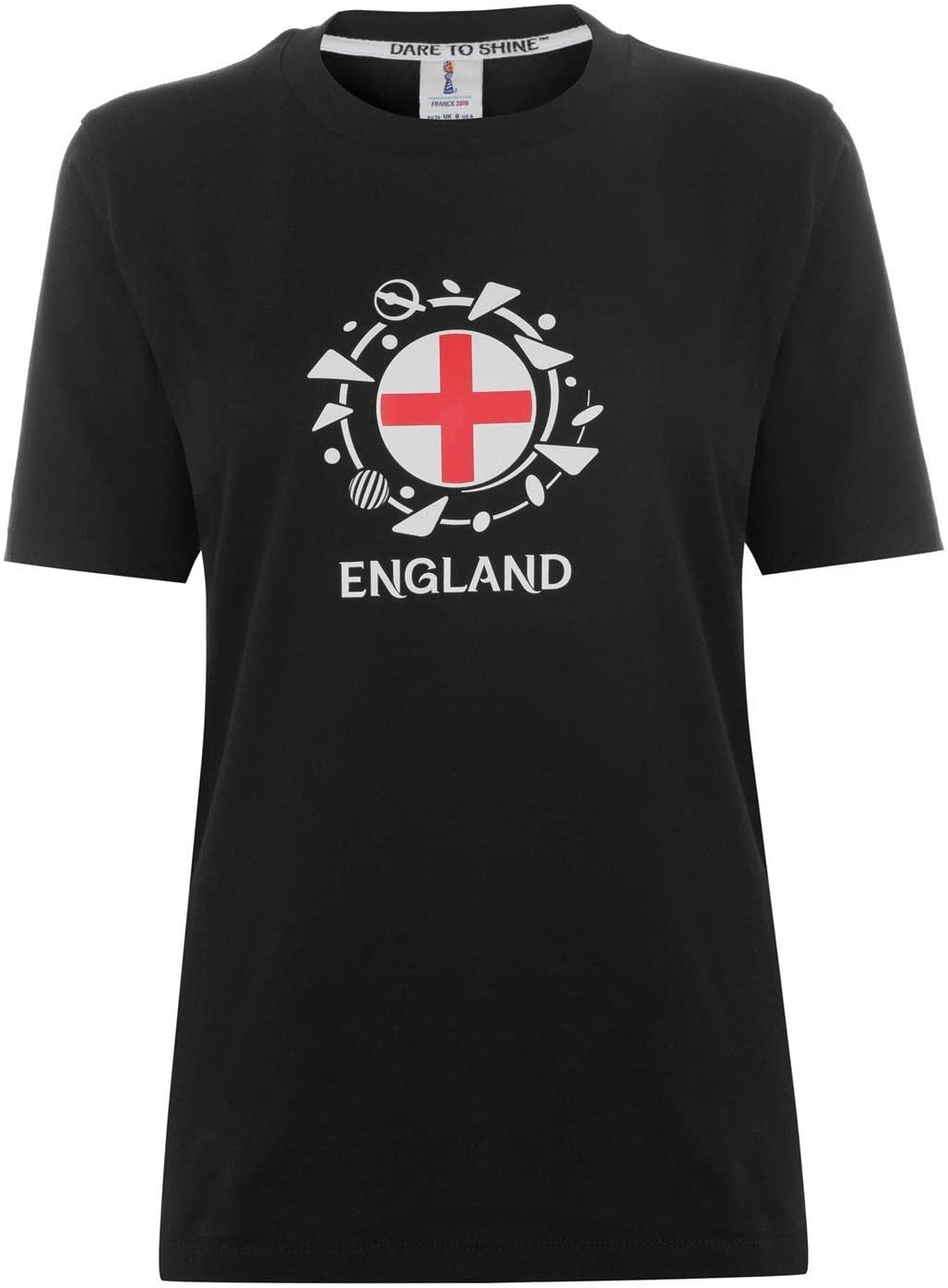 FIFA Womens World Cup 2019 England Graphic T-Shirt Womens Black Football Soccer