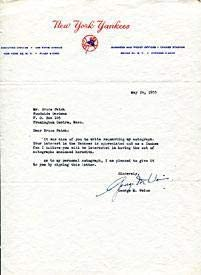George Weiss Autographed/Signed New York Yankees Letter - MLB Autographed Miscellaneous Items