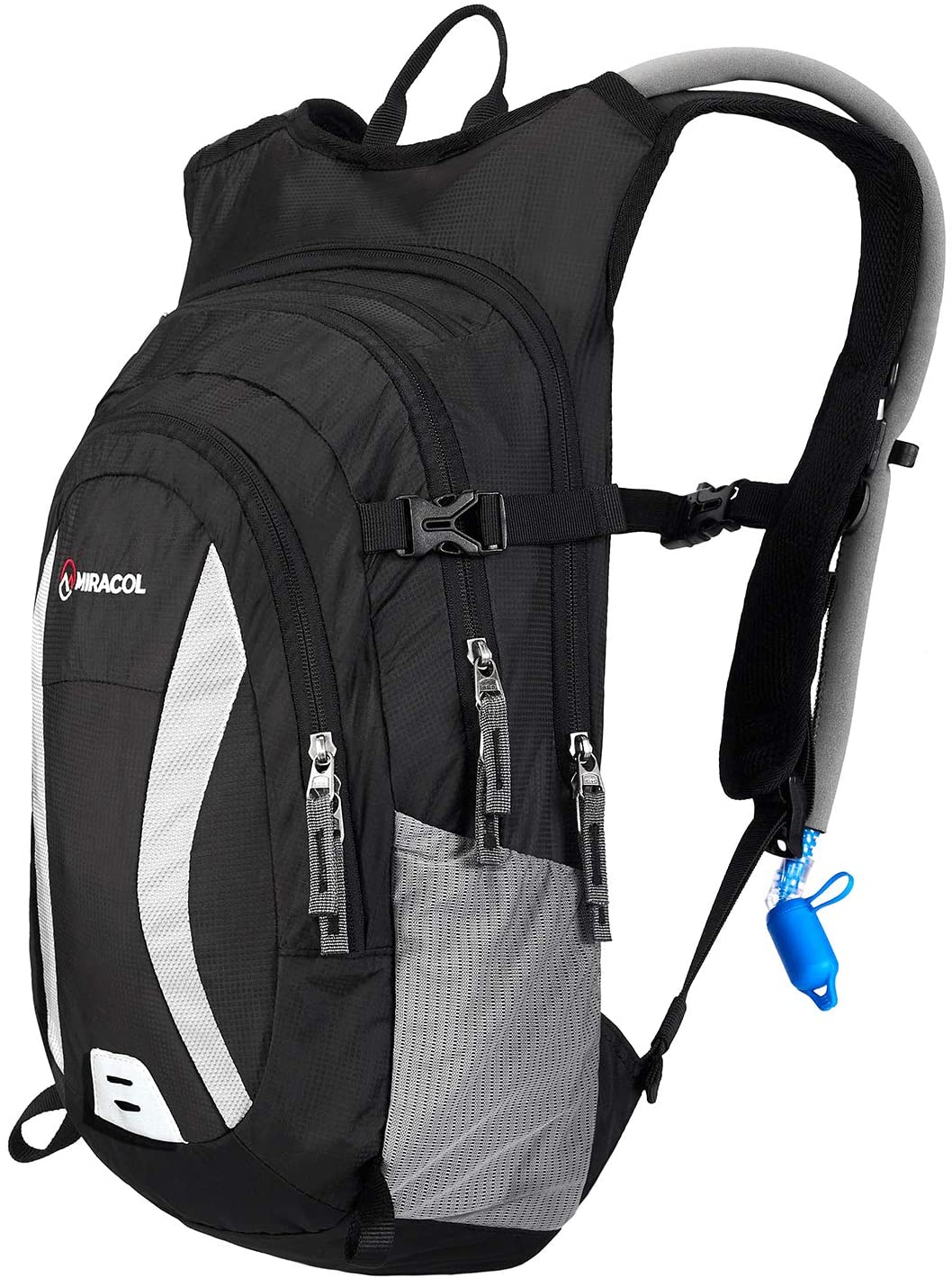 MIRACOL Hydration Backpack Packs with 2L Auto Shut-Off Water Bladder, Insulated Hydration Backpacks for Hiking, Cycling, Running, Climbing, Biking, Camping Gear