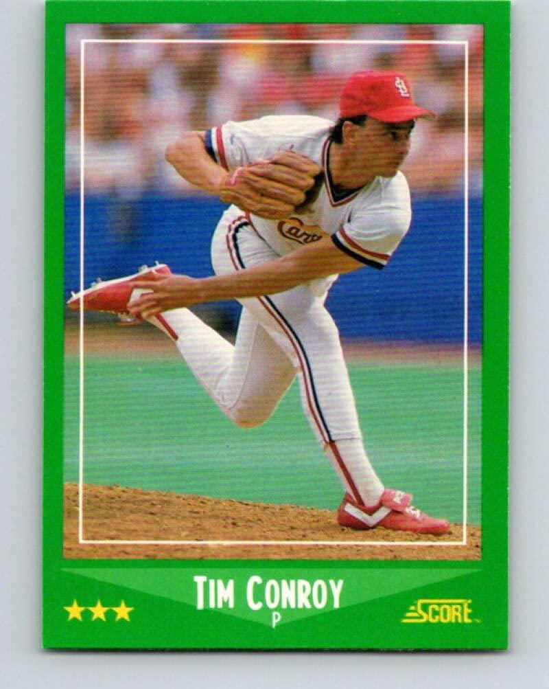 1988 Score #384 Tim Conroy Mint Baseball MLB Cardinals