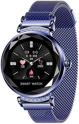 WUAZ Smart Watch Fashionable Color Display Waterproof with Blood Pressure Test Pulse Monitor Women Intelligent Predict Menstrual Fitness Pedometer Smart Bracelet