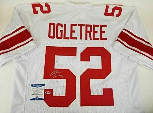 Autographed Alec Ogletree Jersey - Beckett BAS Witness #N40309 - Beckett Authentication - Autographed NFL Jerseys
