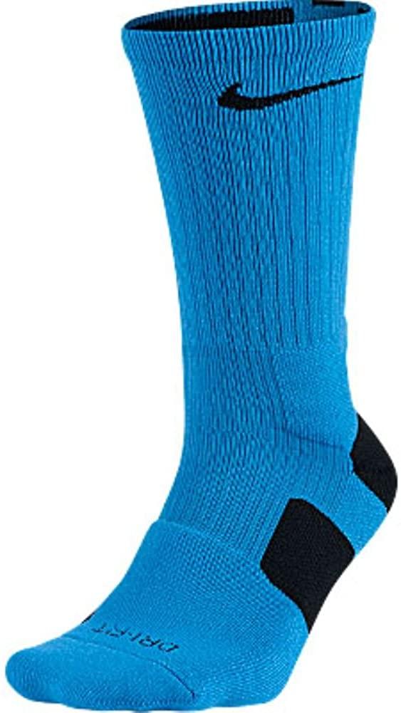 Nike Elite Cushioned Basketball Crew Socks - Extra Large - Blue/Black - 437