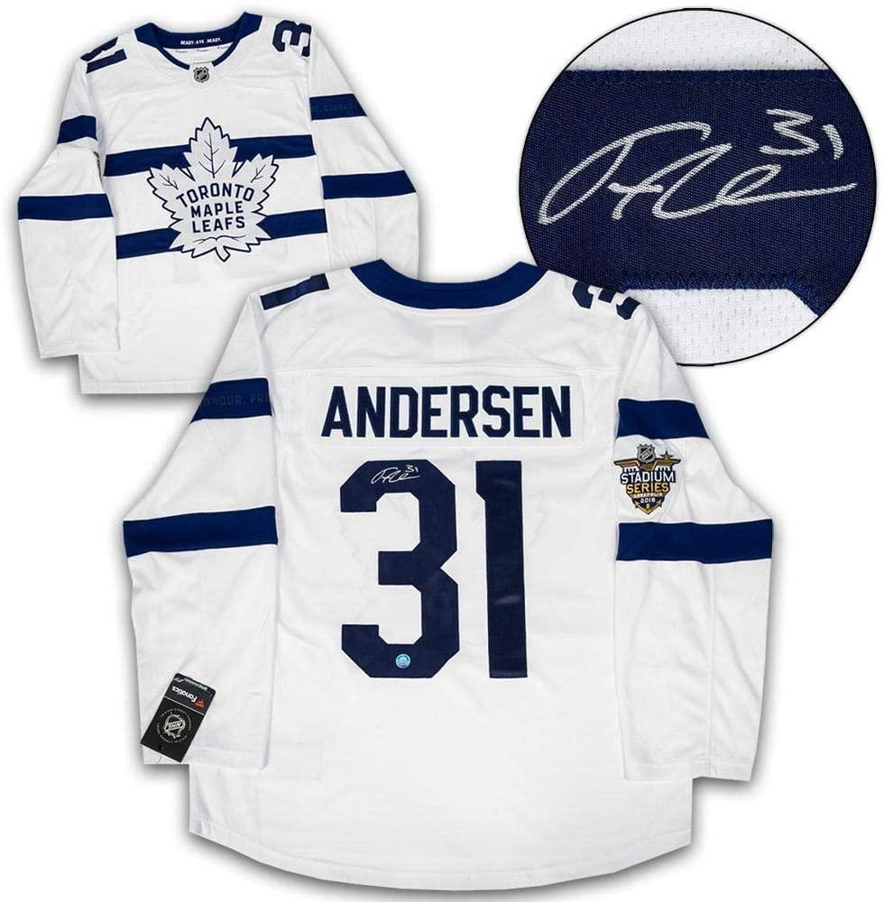 Autographed Frederik Andersen Jersey - Stadium Series Fanatics - Autographed NHL Jerseys
