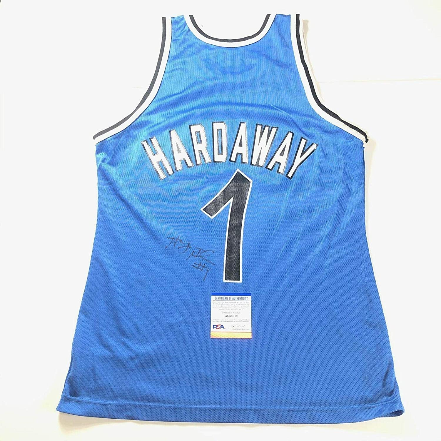 Penny Hardaway Autographed Jersey - Champion Anfernee - PSA/DNA Certified - Autographed NBA Jerseys