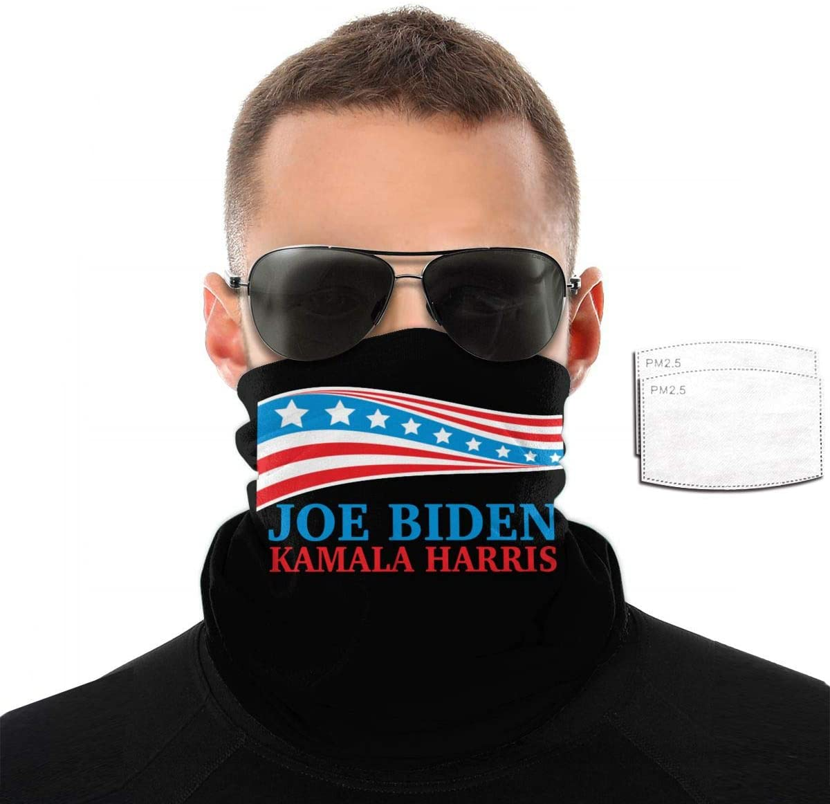 xvb Joe Biden Kamala Harris 2020. Face Scarf -Dust Uv Protection Lightweight Summer Bandanas Adjustable Comfortable Breathable Face Covering for Outdoor Cycling