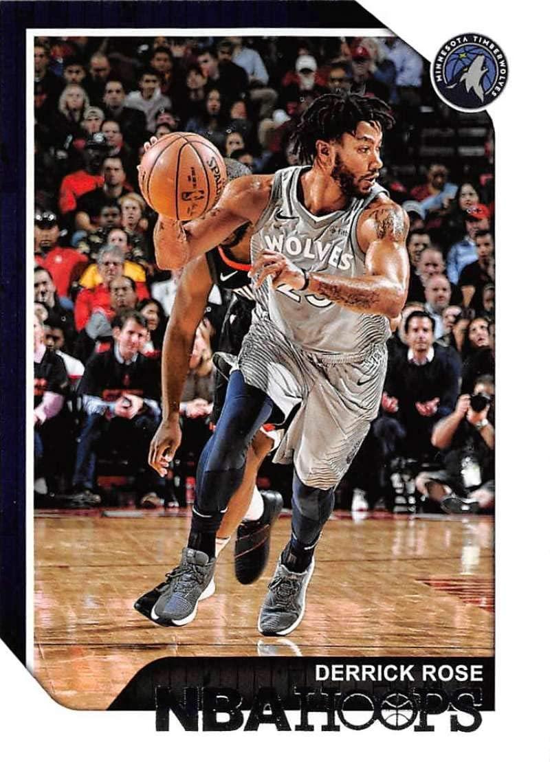 2018-19 NBA Hoops Basketball #240 Derrick Rose Minnesota Timberwolves Official Trading Card made by Panini