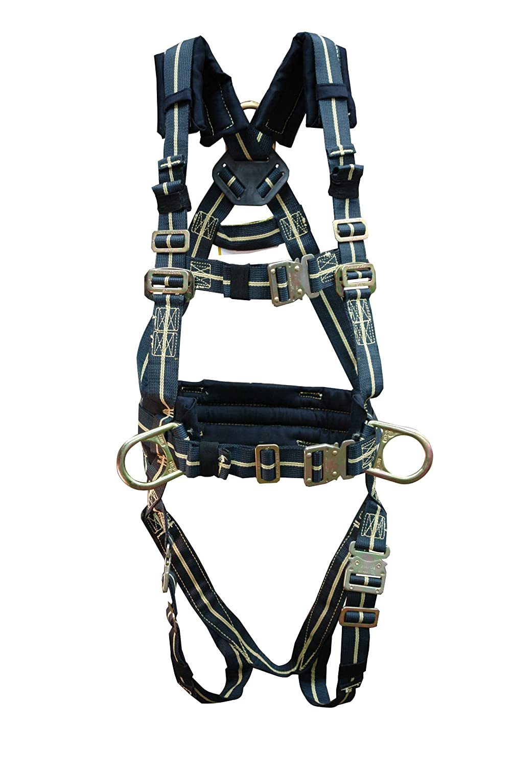 Elk River 95324 FireMaster Kevlar 3 D-Ring Harness with Quick Connect Buckles and Fall Indicator, X-Large