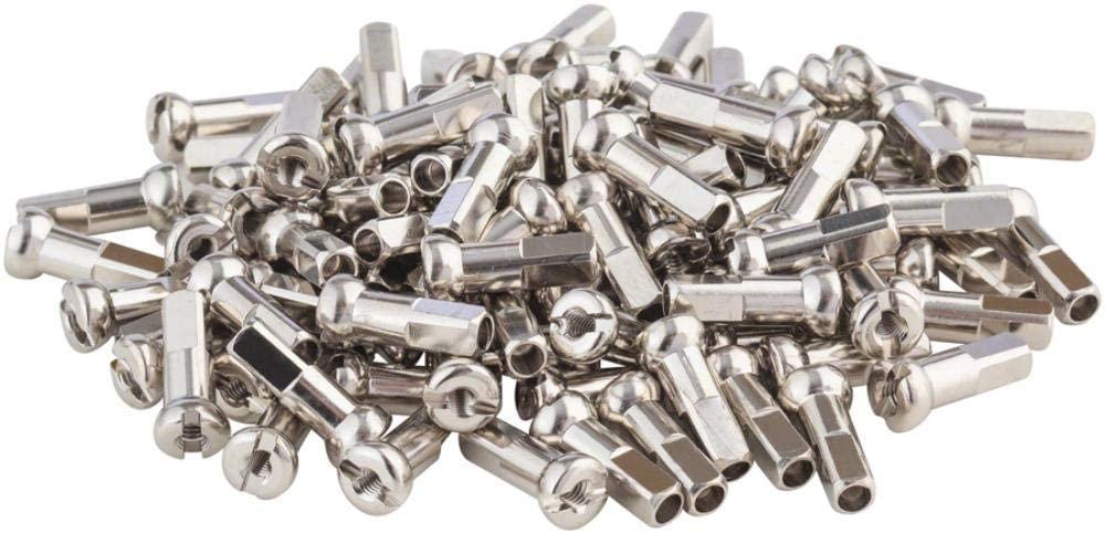 DT Swiss Pro Head Nipples 2.34mm 14mm Box of 100 Brass Silver 1.869g ea