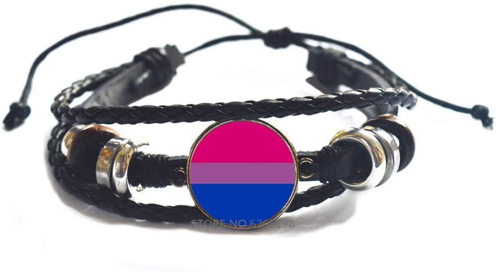 Bisexual Pride Bracelet, Bisexual Bangle, Bisexual Jewelry, Bisexual Gifts, Bisexual Pride Flag, Bi Pride Pink Purple Blue Bangle Bi Flag,N185