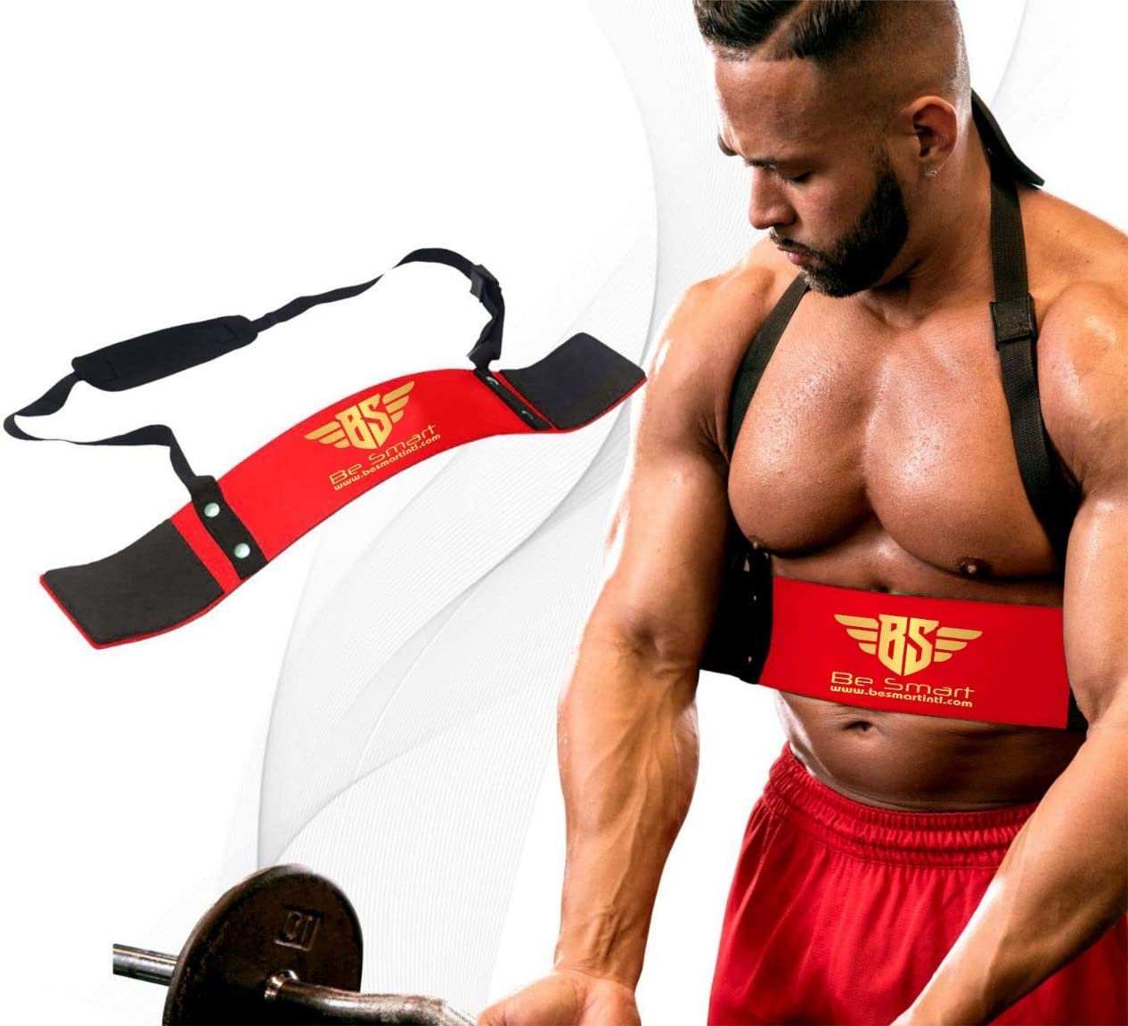 BeSmart Arm Blaster for Biceps & Triceps Dumbbells & Barbells Curls Muscle Builder Bicep Isolator for Big Arms Bodybuilding & Weight Lifting Support for Strength & Muscle Gains by Be Smart