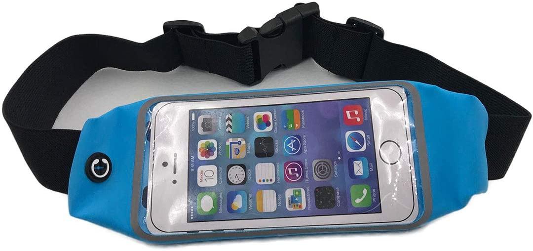 Running Belt Running Belts, Waist Pack Fanny Pack Pouch, iPhone 6, 6s, 7 Plus Holder for Runners, Best Running Pouch Belt for Hands Free Workout