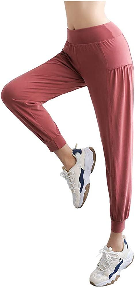 Angcoco Women's High Waisted Quick-Dry Loose Fit Workout Pants