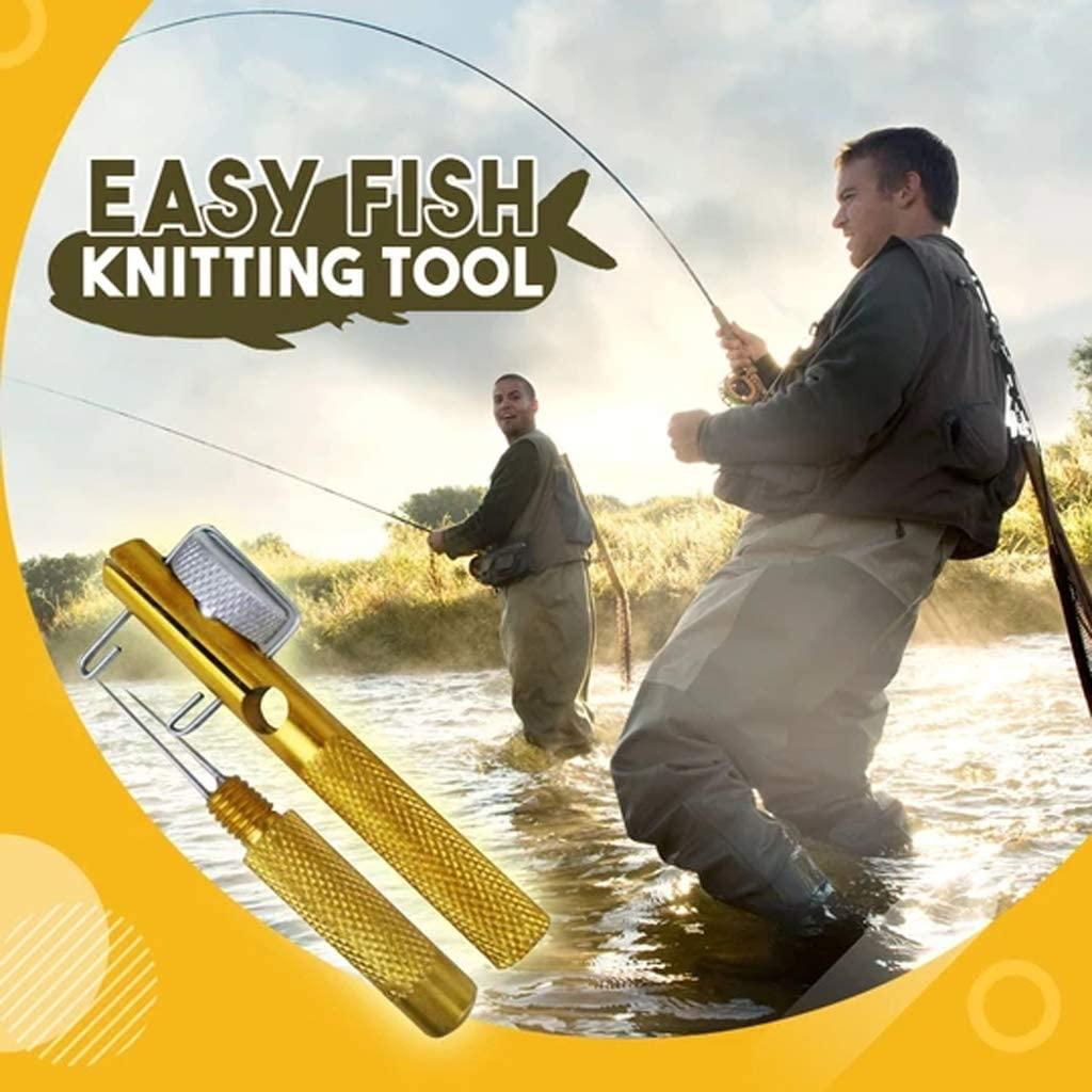 3PCS Knot Tying Fishing Tool, Manual Hook Knotter, 2 in 1 Fishing Line Fishhook Tie Device Fishing Kits